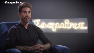 Sergio Ramos during the interview with Esquire.