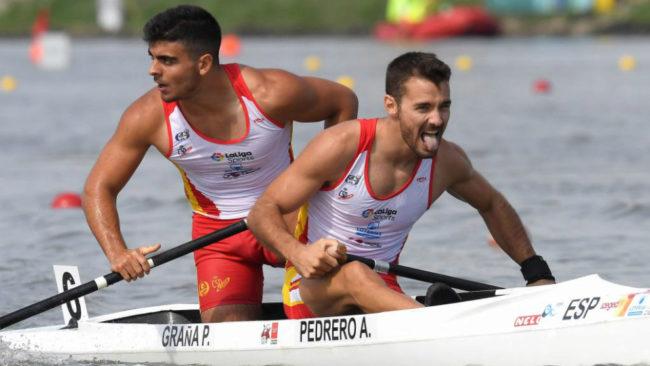Alberto Pedrero y Pablo Graña tras ganar el oro en el Mundial de...