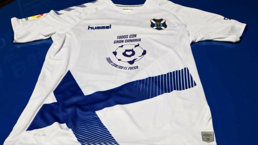 La camiseta con la que jugará el Tenerife el domingo ante el Numancia