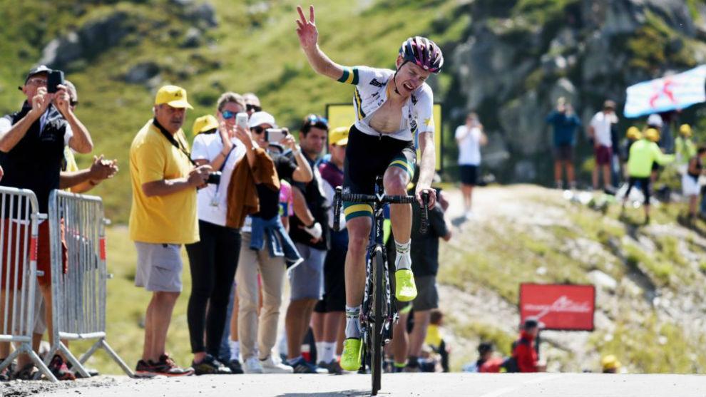 Alexander Evans, el mejor en la dura subida de 23 kilómetros.
