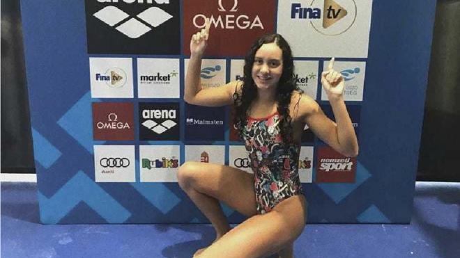 Alba Vázquez celebra sus resultados en el Mundial de Budapest