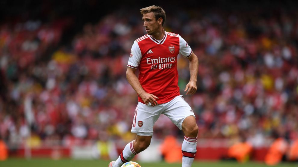 Nacho Monreal playing for Arsenal this summer.