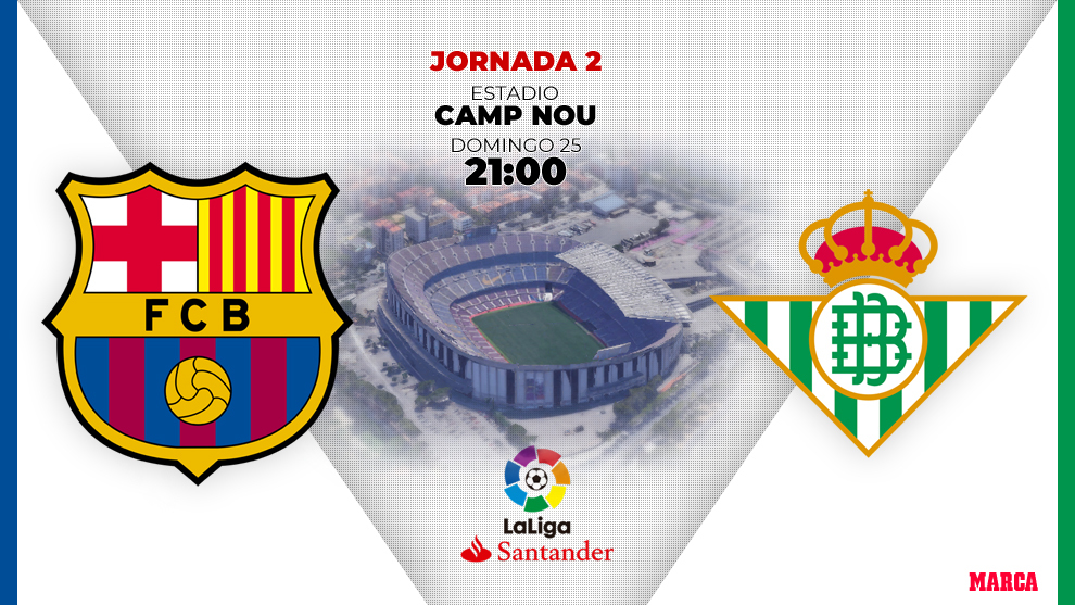 Barcelona vs Betis, domingo a las 21: horas