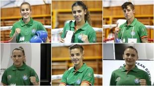 Laura Fuertes, Jennifer Fernández, Lara García, Eva Díez, Melissa...