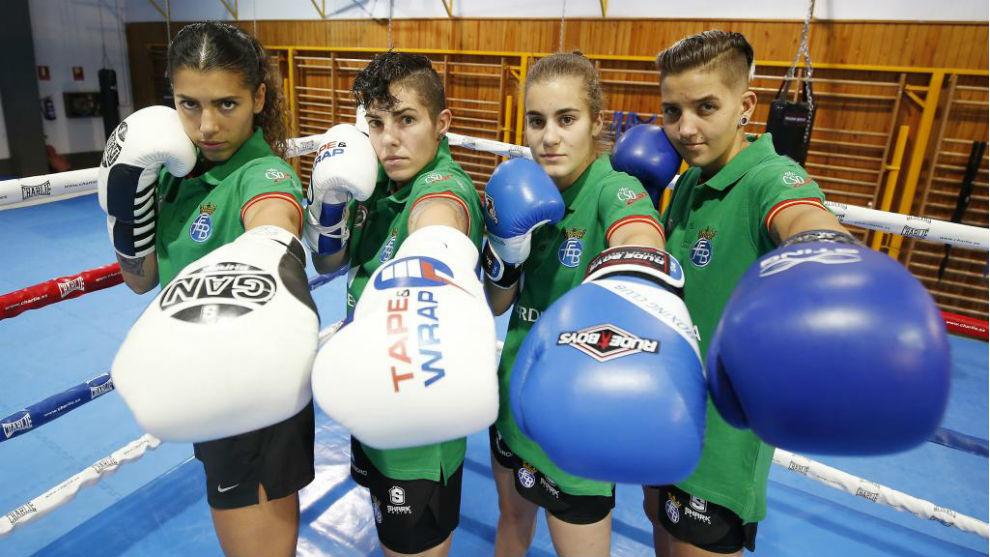 Jennifer Fernández, Lara García, Laura Fuertes y Melissa González.