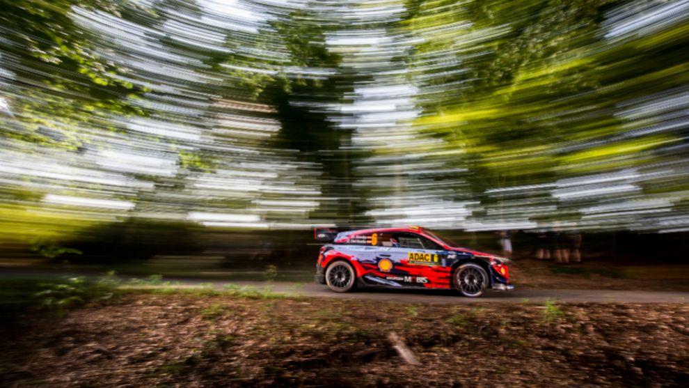 'Scratch' del cántabro esta mañana con el i20 Coupé WRC.