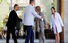 El Rey Felipe VI y Doña Sofía acudieron a ver a Don Juan Carlos