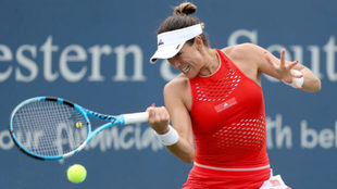 Garbiñe Muguruza durante su reciente partido frente a Madison Keys.