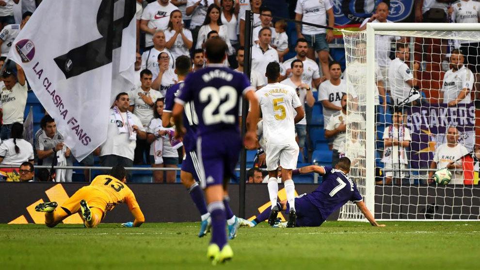 Guardiola bate a Courtois y hace el 1-1.