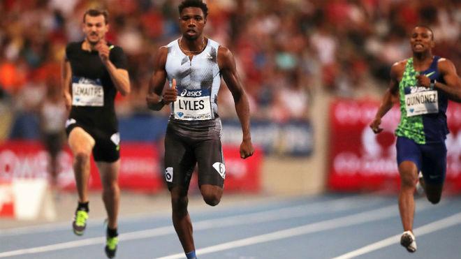 Lyles, en la prueba parisina de los 200 metros.