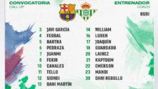 Lista frente al Barça