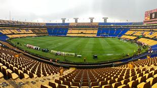 Así se ve el terreno de juego, previo al duelo entre Tigres y...