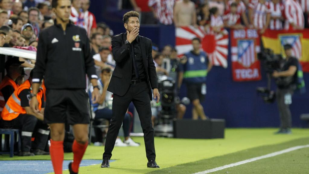 Diego Simeone at Butarque.