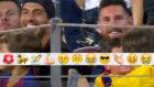 Suárez y Messi, tras el segundo gol de Griezmann