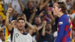 Griezmann celebra uno de sus goles