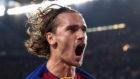 Griezmann celebra su segundo gol con el Barça