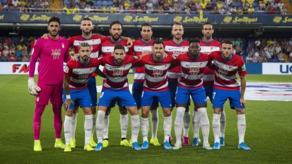 Alineación del Granada en su primer partido de Liga.