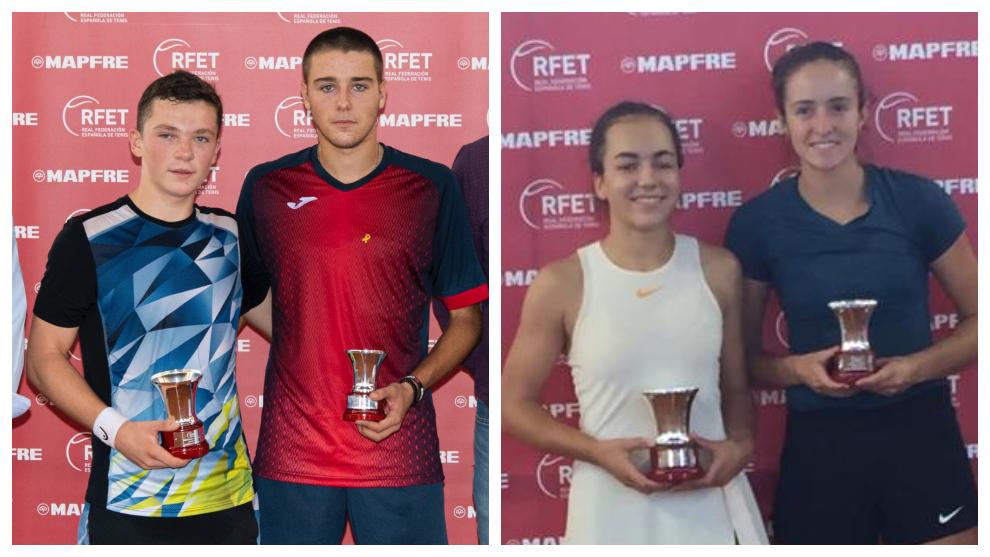 Campeones y finalistas masculinos y femeninos