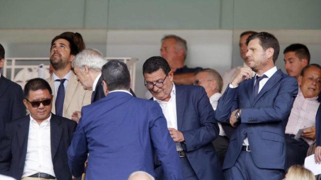Mateu Alemany en el palco minutos antes del Valencia-Real Sociedad de...