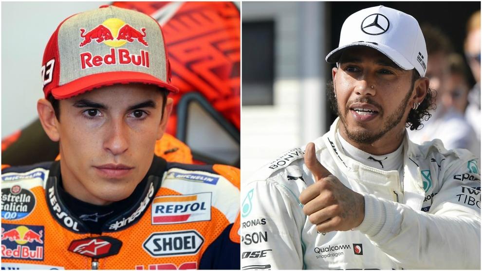 Marc Márquez y Lewis Hamilton.