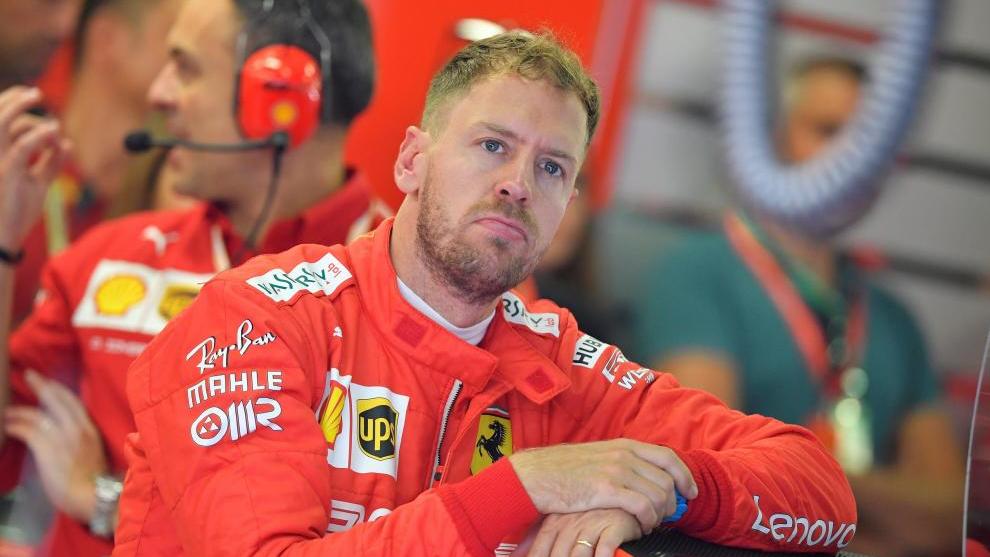 Vettel, durante el pasado GP de Hungría.