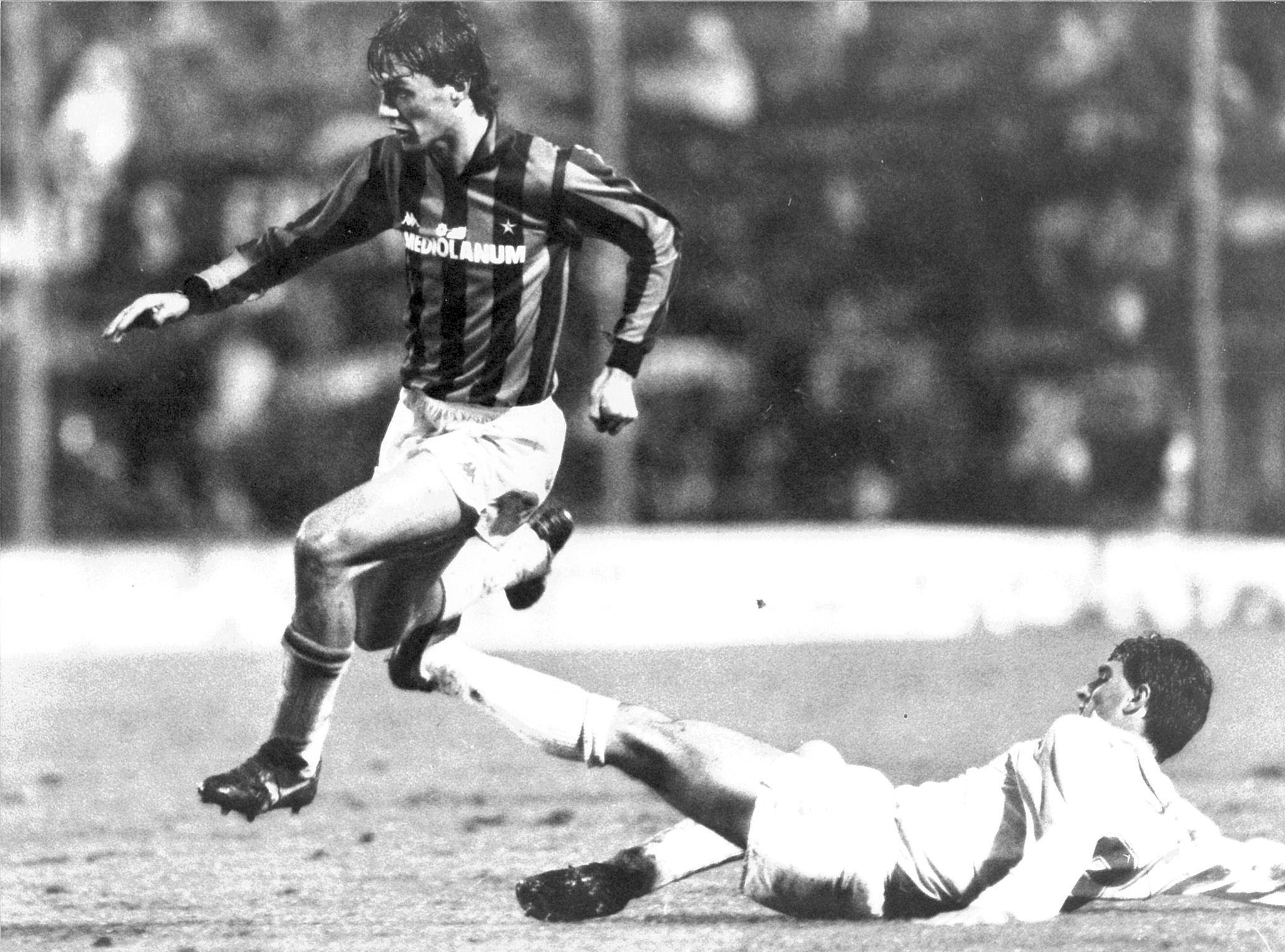 Maldini, en el Milan.