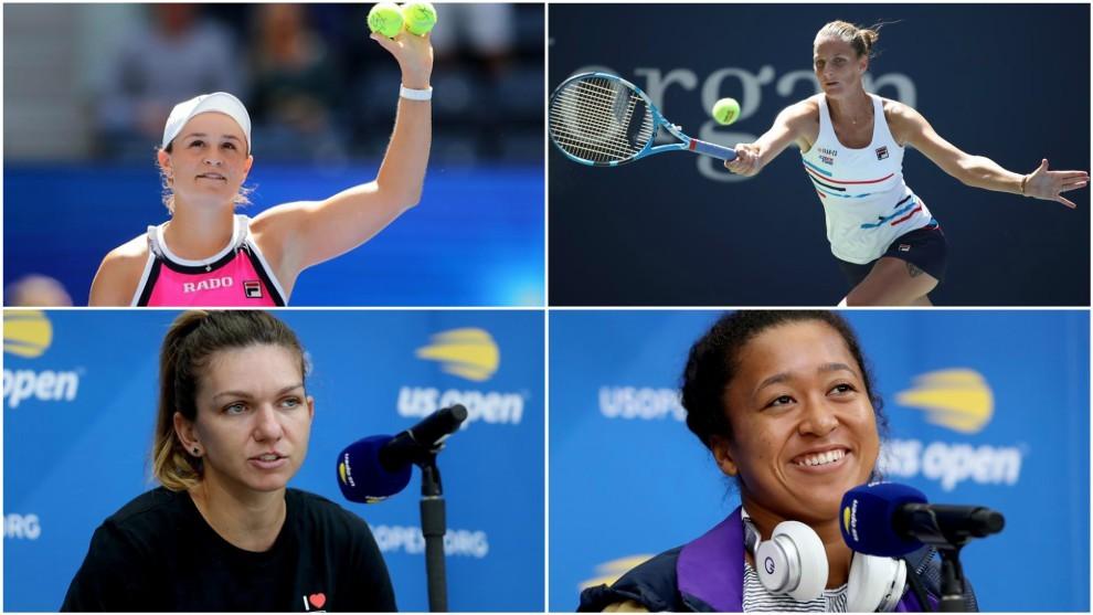 Barty, Pliskova, Halep y Osaka, candidatas al cetro de la WTA