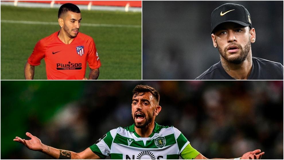 Correa, Bruno Fernandes y Neymar