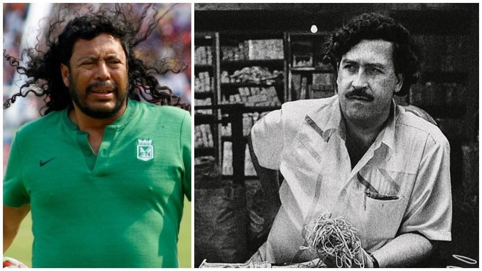 René Higuita y Pablo Escobar.