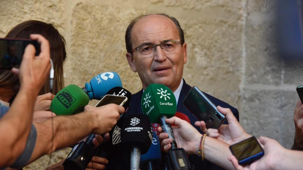 Jose Castro speaking to the media on Wednesday.