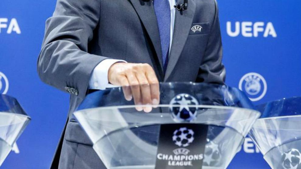 El Forum Grimaldi de Mónaco acude el sorteo de la UEFA Champions...