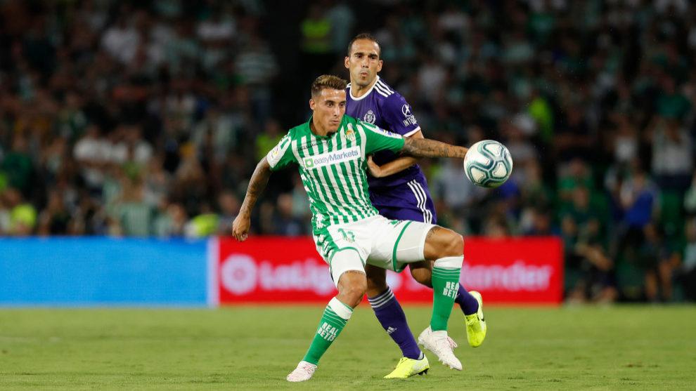 Tello, en el partido contra el Valladolid.