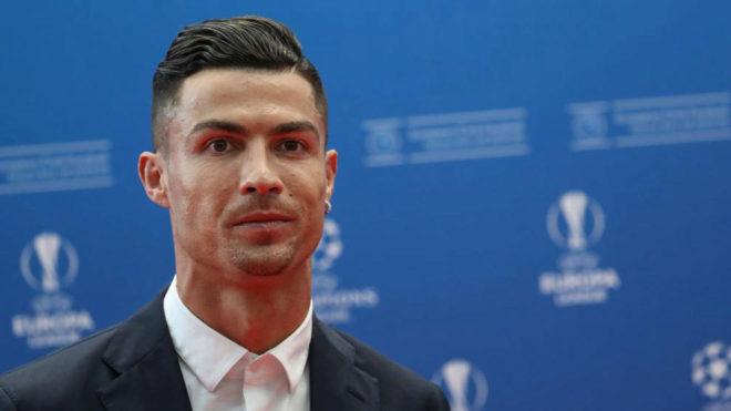 Cristiano Ronaldo, antes del sorteo de la Champions