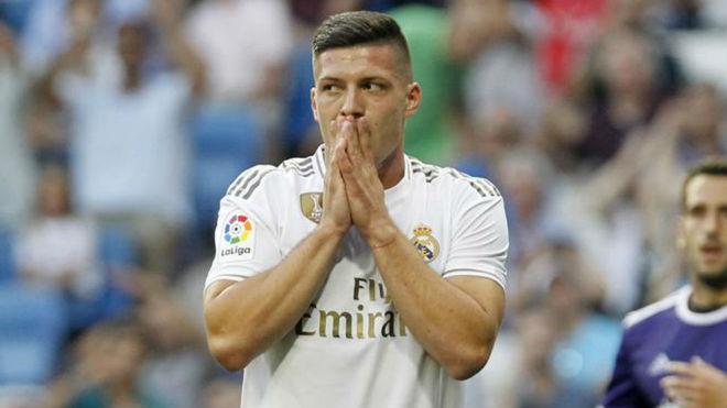 Luka Jovic, ante el Valladolid