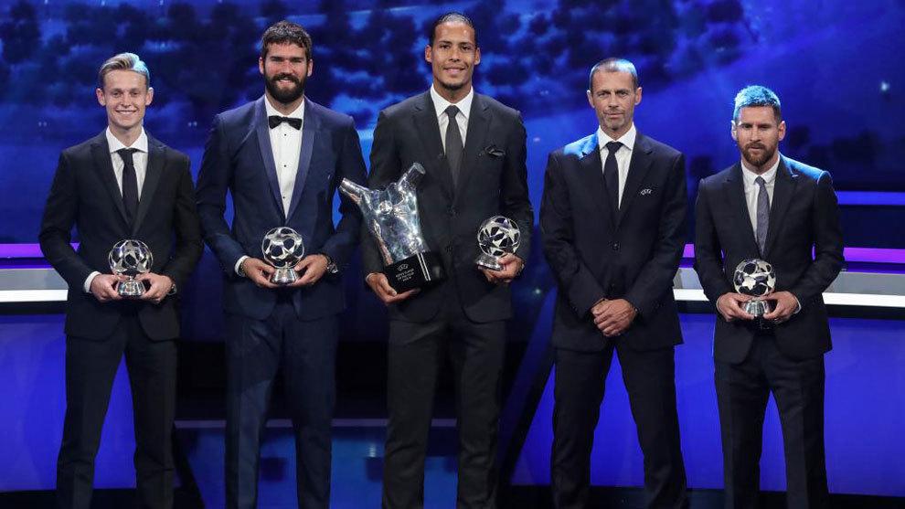 De Jong, Alisson. Van Dijk, Ceferin y Messi.