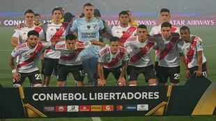 El once de River que se enfrentó a Cerro Porteño en Asunción.