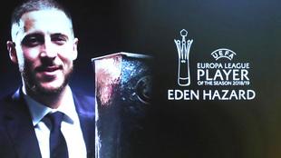 Hazard, mejor jugador de la Europa League.