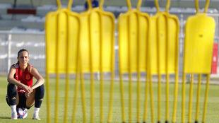 Virginia Torrecilla, durante un entrenamiento en el Mundial de...