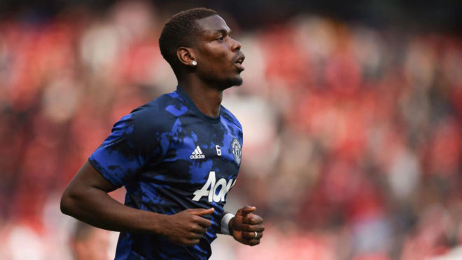 Paul Pogba, antes de un partido con el Manchester United