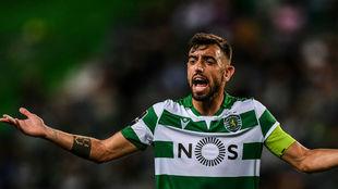 Bruno Fernandes, durante un partido del Sporting.
