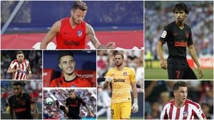 Los ocho jugadores del Atlético de Madrid que han sido convocados con...