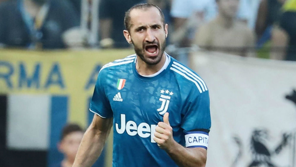 Chiellini, capitán de la Juventus.
