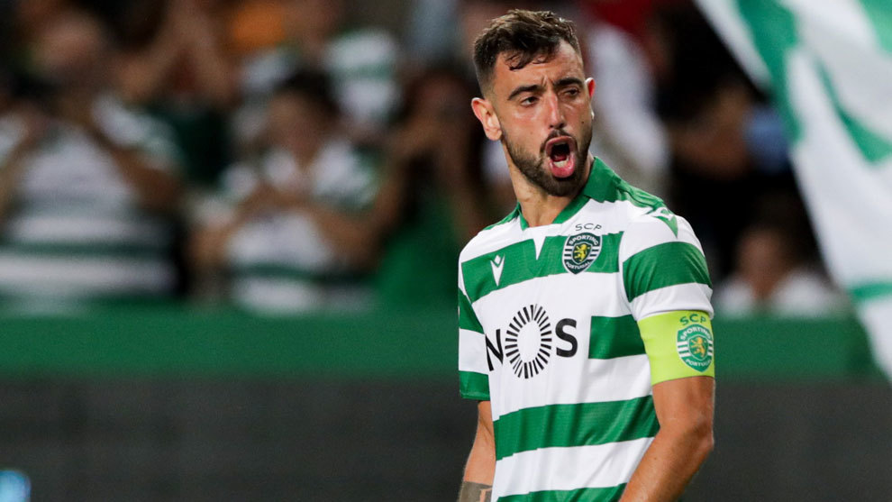 Bruno Fernandes celebra su gol ante el Braga el pasado 18 de agosto