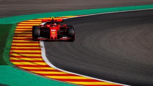 El Ferrari de Charles Leclerc, en Spa.
