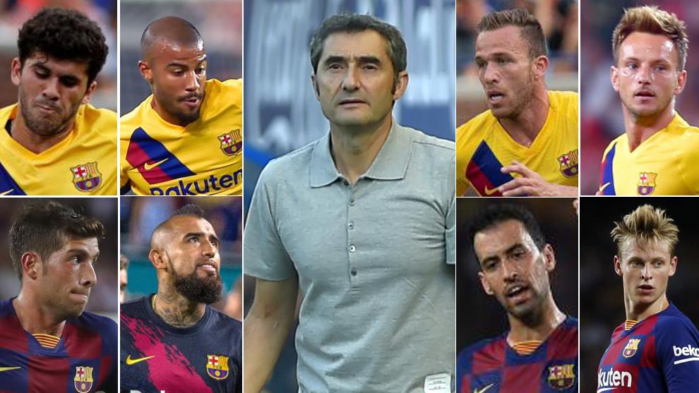 Ernesto Valverde and his central midfielders.