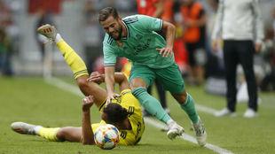 Nacho, en el partido de la pretemporada ante el Fenerbahçe