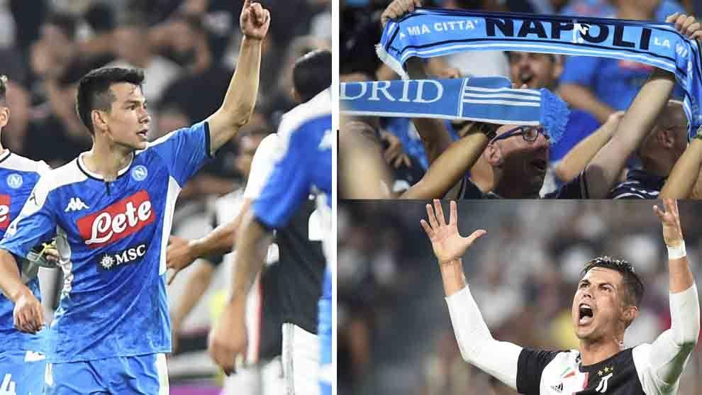 Así fue el duelo entre la Juve y Napoli donde debutó Hirving Lozano