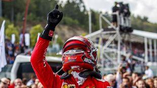 Leclerc dedica el triunfo a Hubert.