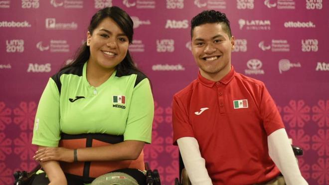Karla Manuel y Eduardo Ruiz participaron en la prueba de parejas.