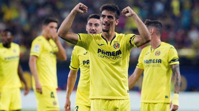 Gerard celebra el gol que consiguió ante Madrid.